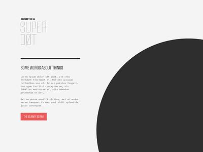 journey of a super dot website minimal