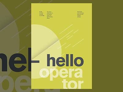 Hello Operator the white stripes poster