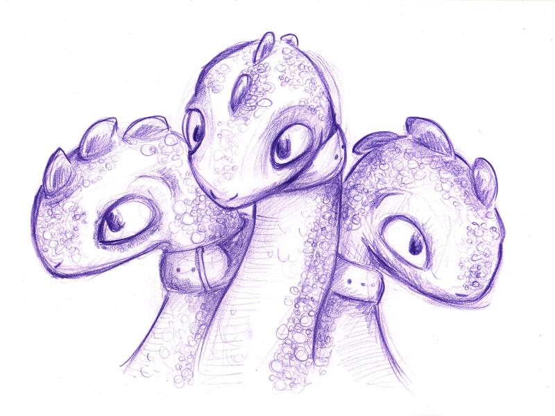 Ziggy Heads Drawing illustration ziggy hydra