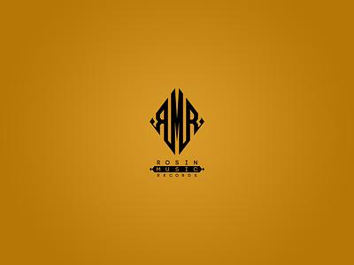 Rosin Music Records Logo logo design monogram logo music art monogram records brand music logo