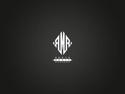 Rosin Music Records Mongram Logo branding badge vectors music records logo design logotype monogram logo monogram design logo