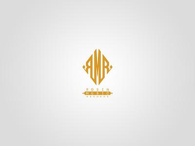 Rosin Music Records Mongram Logo vector monogram branding monogram logo badge vectors design logotype logo