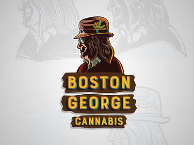 Boston George Cannabis - Logotype typography vector branding badge illustration vectors design logotype logo