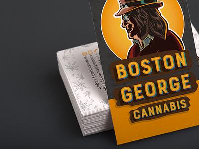 Boston George Cannabis - Business Card business card typography vector branding badge illustration vectors design logotype logo