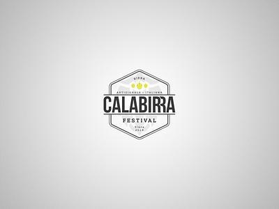 Calabirra Festival Logo beer festival beer art typography vector badge vectors design logotype logo