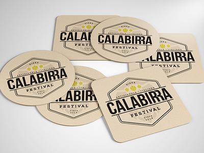 Calabirra Festival - Coaster Mockup coaster badge beer beer festival mock-up logotype logo