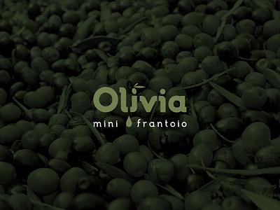 Olivia typography vectors design vector branding logotype logo brand label olive oil