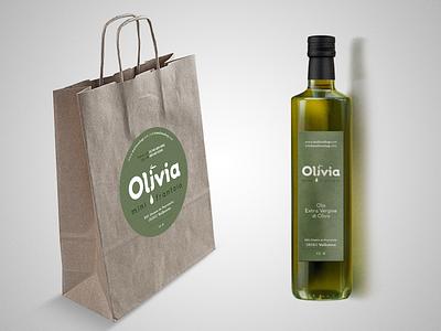Olivia food label design olive oil label mock up mock-up mockup