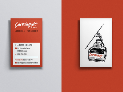 Caravaggio Business Card business card mockup business card design logo design design business card