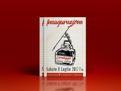 Caravaggio Flyer flyer artwork flyer design flyer typography vector illustration design
