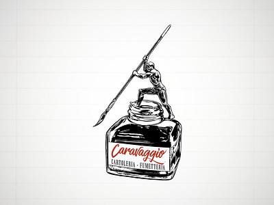 Caravaggio Logo illustration art logo design typography vector illustration vectors logotype design logo