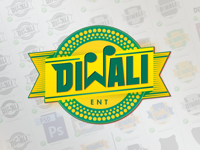 Diwali Ent italy booking reggae entertainment music art music artwork music badge design logotype logo