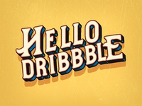 Hello Dribble in Vintage Style