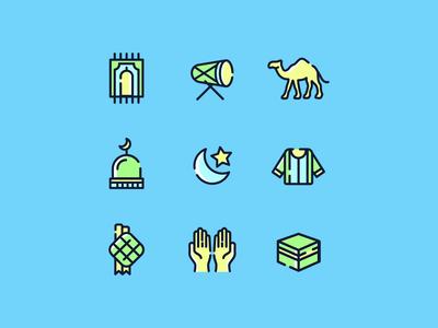 Free Eid Mubarak Icon Set