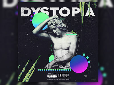 DYSTOPIA - Album Cover Art coverart artwork album music art moder art gradient dark abstract illustration sculpture