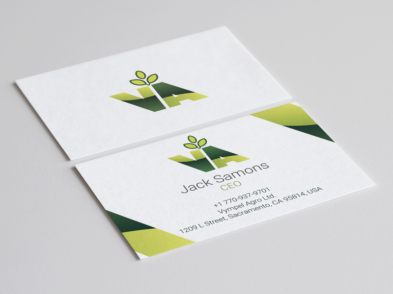 Vympel Agro Business Card by Alexander Demyanovich - Dribbble