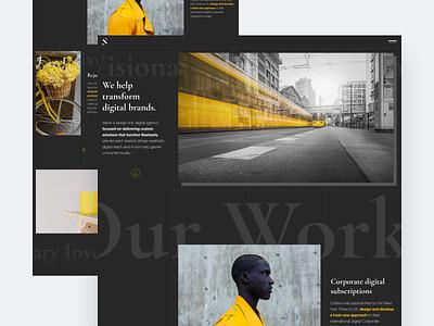 Digital agency website dark agency website agency digital ui interface clean homepage modern web design ui  ux design design concept ui design