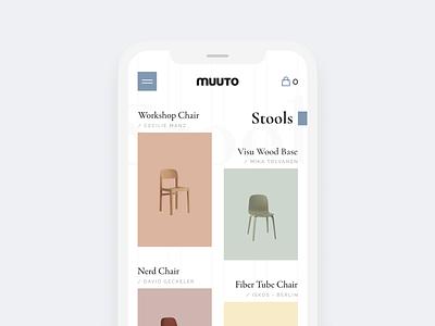 Scandinavian furniture online store responsive mobile scandinavian furniture ui interface clean homepage modern web design ui  ux design design concept ui design