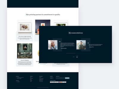 Fine arts studio artwork painting online store online studio art ui interface clean homepage modern web design ui  ux design design concept ui design