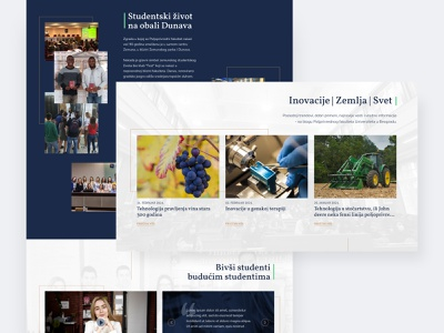 Faculty of Agriculture, University of Belgrade clean faculty agriculture ui interface homepage modern ui  ux design web design