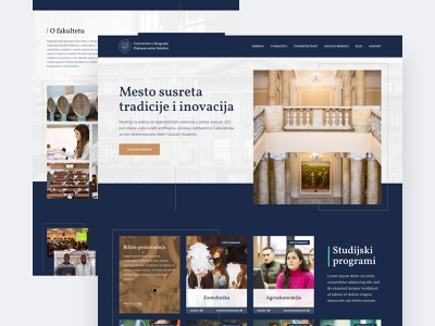 Faculty of Agriculture, University of Belgrade belgrade faculty agriculture ui interface clean homepage modern web design ui  ux design ui design