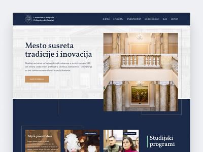 Faculty of Agriculture, University of Belgrade belgrade faculty agriculture ui interface clean homepage modern web design ui  ux design ui design