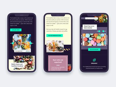 Home grown food website - Mobile food healthy mobile responsive ui interface clean homepage modern web design ui  ux design concept design ui design