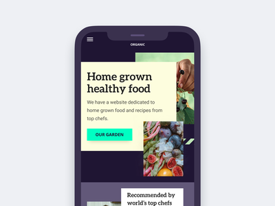 Home grown food website - Mobile food healthy mobile responsive ui interface clean homepage modern web design ui  ux design concept design ui design