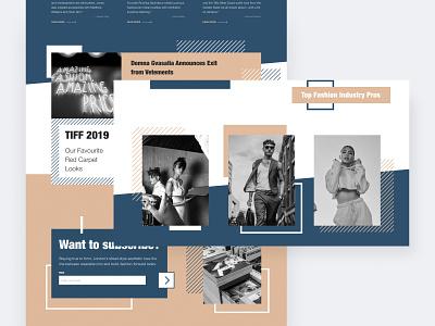 Fashion magazine website web shop fashion clothes online store ui interface homepage modern web design ui  ux design concept design ui design