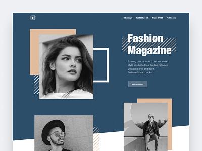 Fashion magazine website web shop clothes fashion online store ui interface homepage modern web design ui  ux design concept design ui design