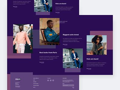 Fashion store website concept online store fashion brand models fashion ui interface clean homepage web design modern ui  ux design concept design ui design