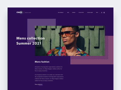 Fashion store website concept online store fashion brand clothes fashion ui interface clean homepage web design modern ui  ux design concept design ui design