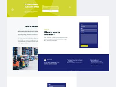 Logistics company website interface logistics storage homepage web design modern ui  ux design concept design ui design