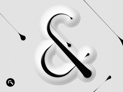& / Digital calligraphy relief 01