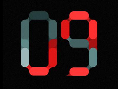 Digital number grid / experiment 0.1