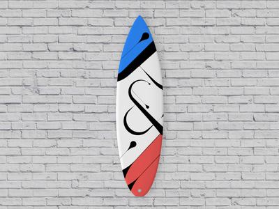 Surfboard design / & calligraphy