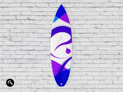Surfboard design / @ calligraphy
