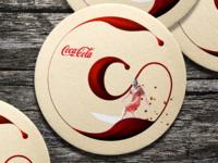 Coca-Cola coaster (Unofficial Coca-Cola design)