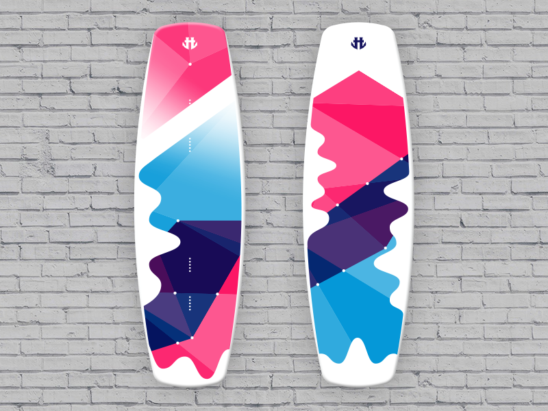 IO Wakeboard Graphics competition 1  / for Humanoid Wakeboards product design polygon color productdesign illustration wakeboard sport art graphicdesign design