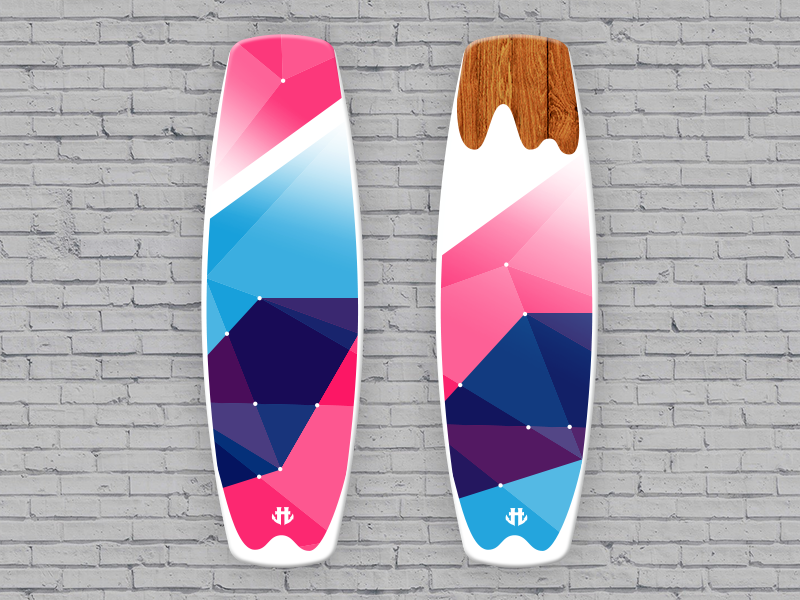 IO Wakeboard Graphics competition 1-b / for Humanoid Wakeboards product design wakeboard sport polygon illustration graphicdesign design color art
