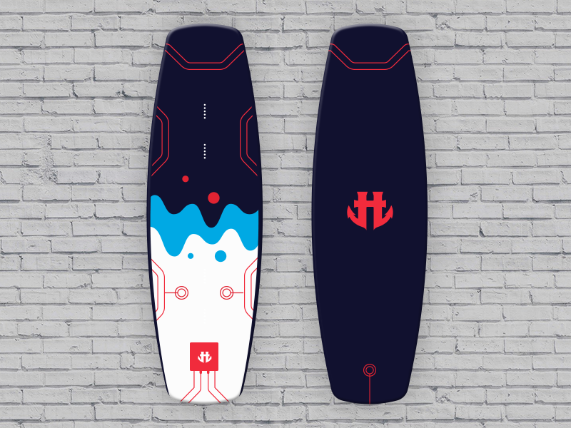 IO Wakeboard Graphics competition 3 / for Humanoid Wakeboards product design wakeboard sport polygon illustration graphicdesign design color art