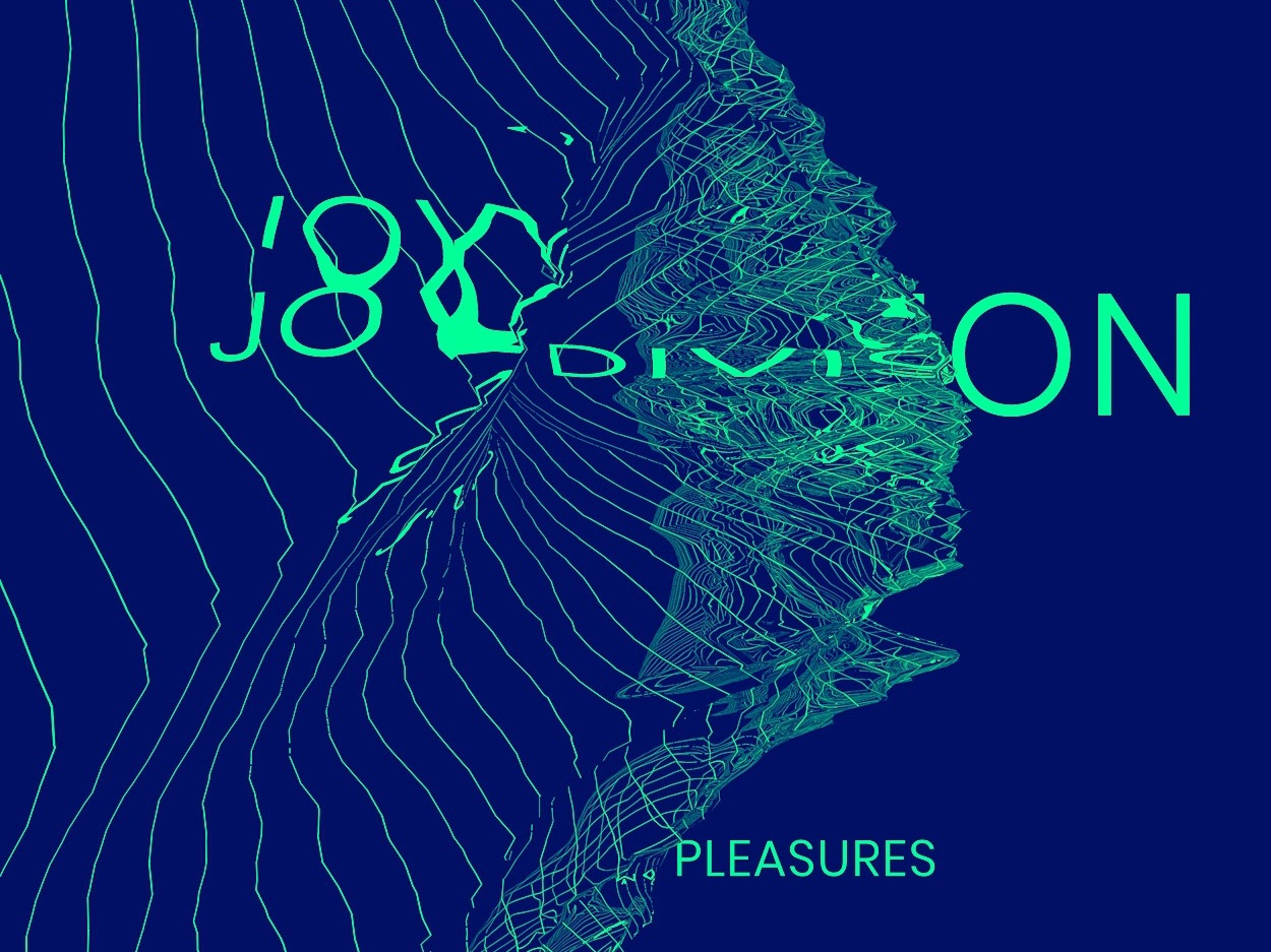 """Tribute to Joy Division's - """"Unknown Pleasures"""" Album Design album cover album art joy division minimal 3d art art design type typography graphicdesign 3d"""