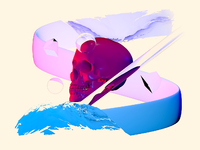 Skull dribbble