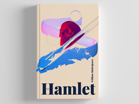 An imaginary book cover for Shakespeare's Hamlet