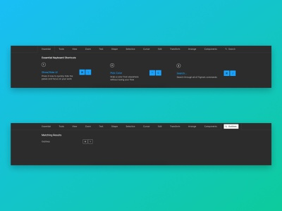 Keyboard Shortcut Search for Figma figmadesign user interface ui suggestion search bar search feature figma