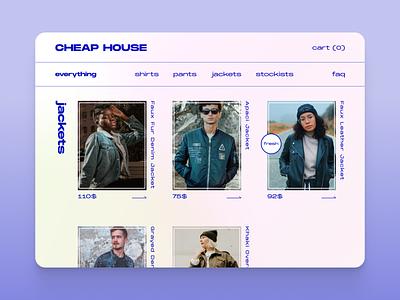 Brittle Brutal bad brutalist take ui web design fashion ecommerce