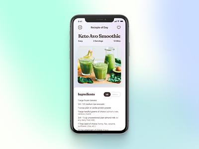 Yet Another Recepie App recipe ingredients food ios figma avocado iphone app serif fresh