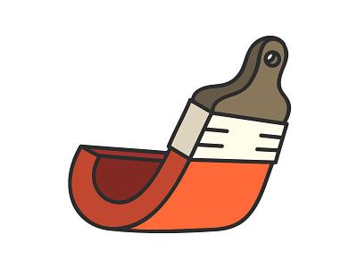 Orange Brush J letter j brush orange illustration illustrator