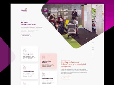 Lucida Website design illuatration user interface ux  ui website design