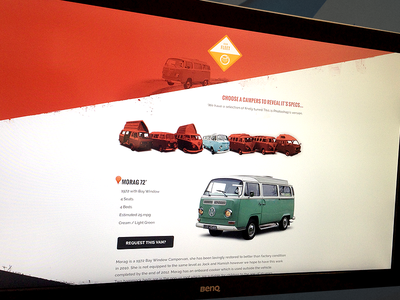 Scooby Campers (nearly live) scooby campers campervan live design orange red icon responsive car van eyeweb
